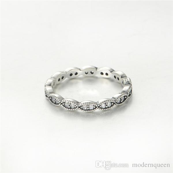 Кольца листья стерлингового серебра S925 распродажа подходит для пандора стиль браслет и подвески ювелирные изделия для женщин бесплатная доставка Rip105H9