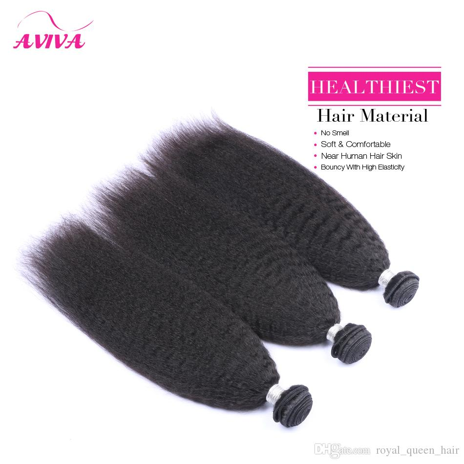 Brezilyalı Bakire Saç Vücut Dalga / Düz / Gevşek / Derin Kıvırmak / Kinky Kıvırcık / Kinky Düz İnsan Saç Dokuma Paketler Brazillian Remy Saç Uzantıları
