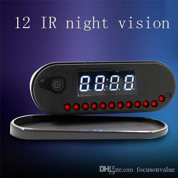 1080P WiFi P2P Table Clock IP Camera night vision 160 degree Wide Angle digital alarm clock DVR Live View remote monitor Nanny camera