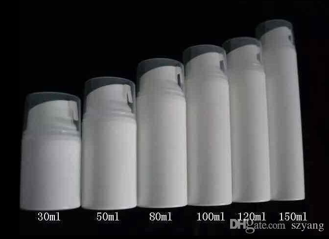 30 ml / 50 ml hochwertige weiße oder klare PP Airless-Flasche 30 ml Airless-Pumpflasche 1 Unzen luftlosen Behälter