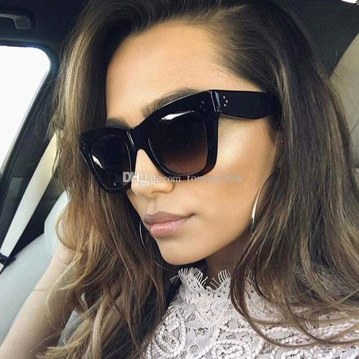 27cec7a895d Hot Woman Sunglasses Oversized Metal Frame Men Luxury Designer Sunglasses  Uv400 Flat Top Quality Super Sunglasses Victoria Beckham Sunglasses From  Tommy368