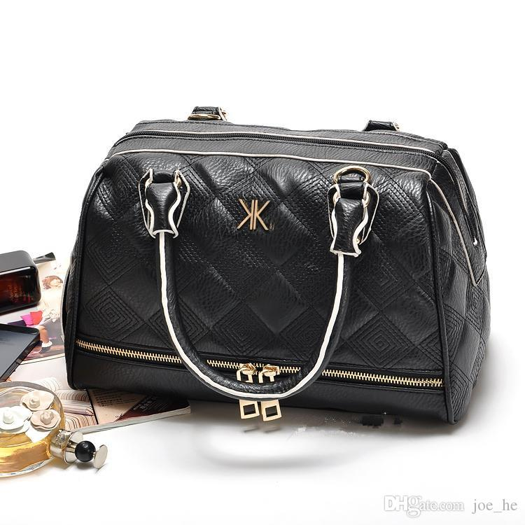 Diseñador de la marca Kim Kardashian Kollection mensajero totalizador KK bolsas diseño mujeres bolso de hombro bolso popular