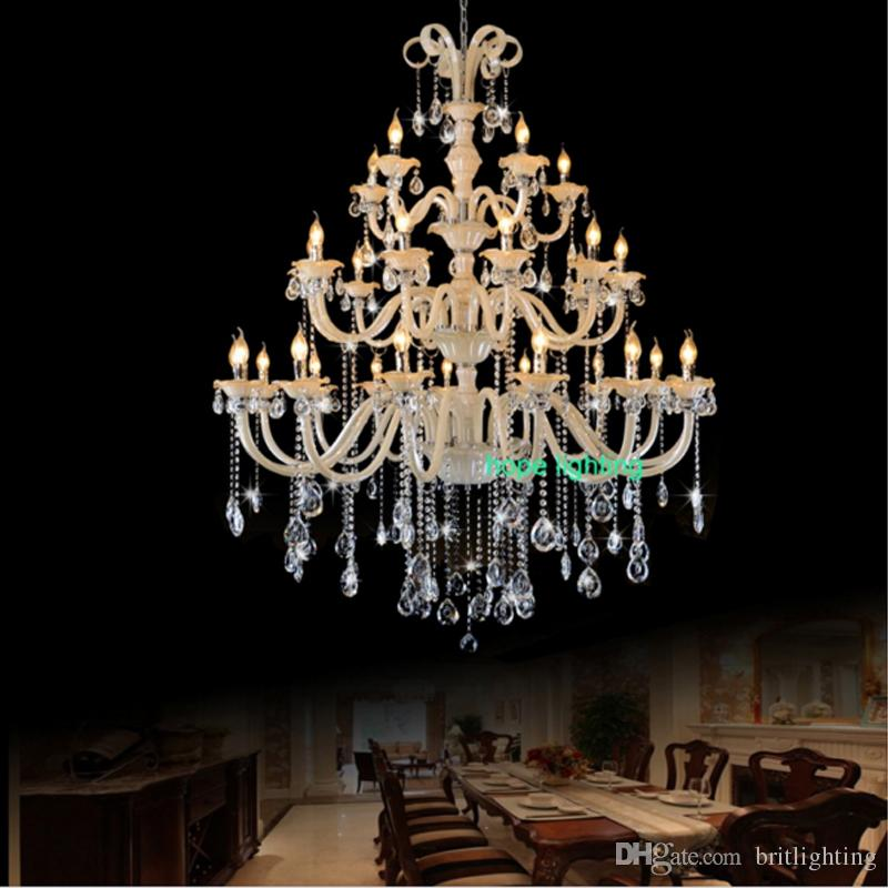 Large Antique Chandelier Contemporary Hotel Vila Lobby Crystal Chandelier  European Style Luxury Crystal Chandeliers Candle Chandelier Light Ceiling  ... - Large Antique Chandelier Contemporary Hotel Vila Lobby Crystal