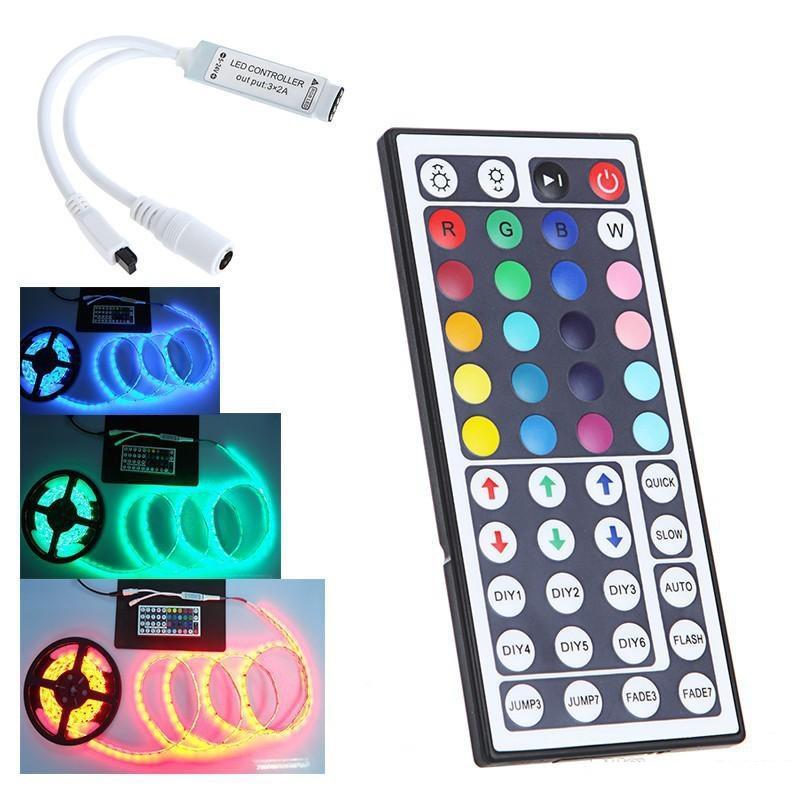 44keys IR عن بعد LED RGB RGBW تحكم DC 12V-24V 12A الترددات اللاسلكية عن بعد الخفوت 2 الموانئ RGB تحكم عن بعد للحصول 5050 5630 5730 شرائط الصمام