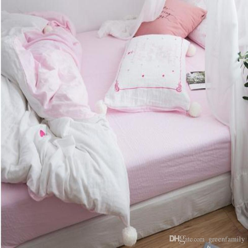 Ins Heart Star Embroidery Soft Cotton Bedding Set King