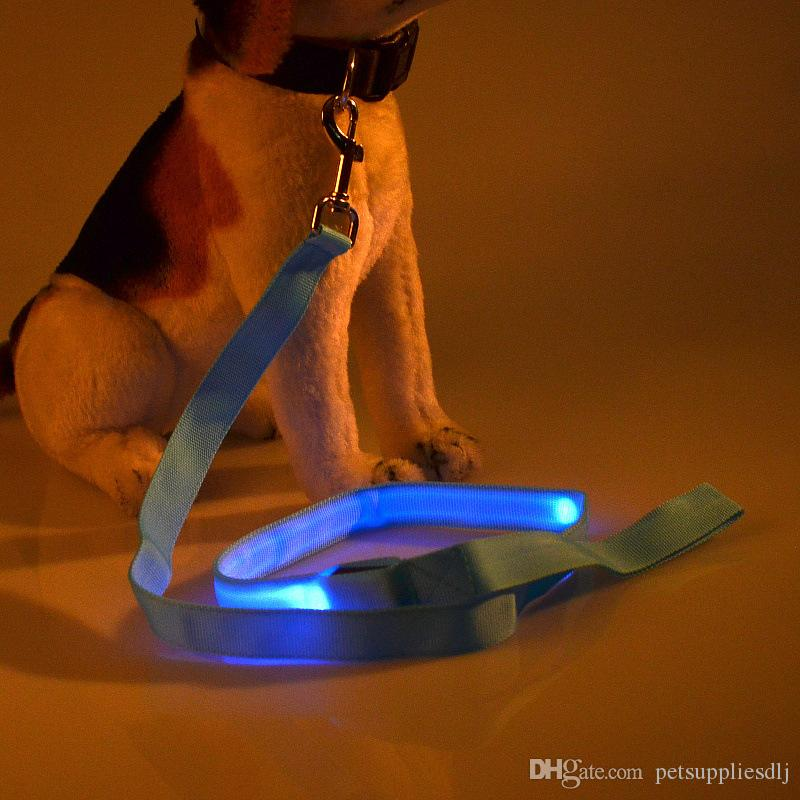 G10 USB Rechargeable Pet dog LED Leash 120cm Nylon Night Safety usb LED Flashing Glow Cat Dogs Drawing Leads tranction