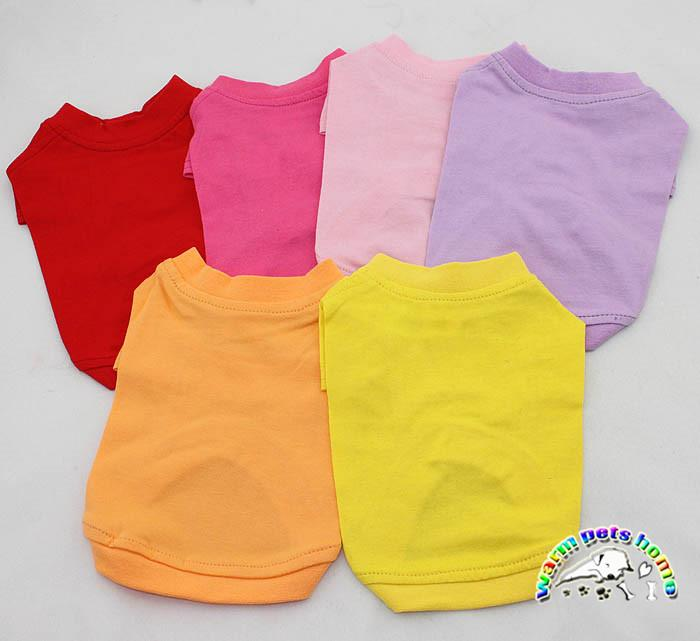 wholesale dog clothes china Blank Pet Clothes Dog T-shirts cotton summer dog clothes sweatshirt