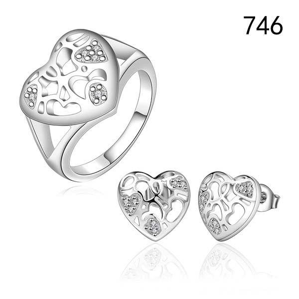 brand new women's gemstone 925 silver jewelry sets same price diffrent style GTS63