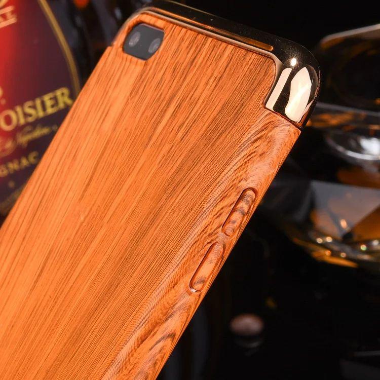 Galvanoplastia de grãos de madeira 3 em 1 caso protetor de celular galvanizado chapeamento tampa traseira para iphone 6 plus 7 plus