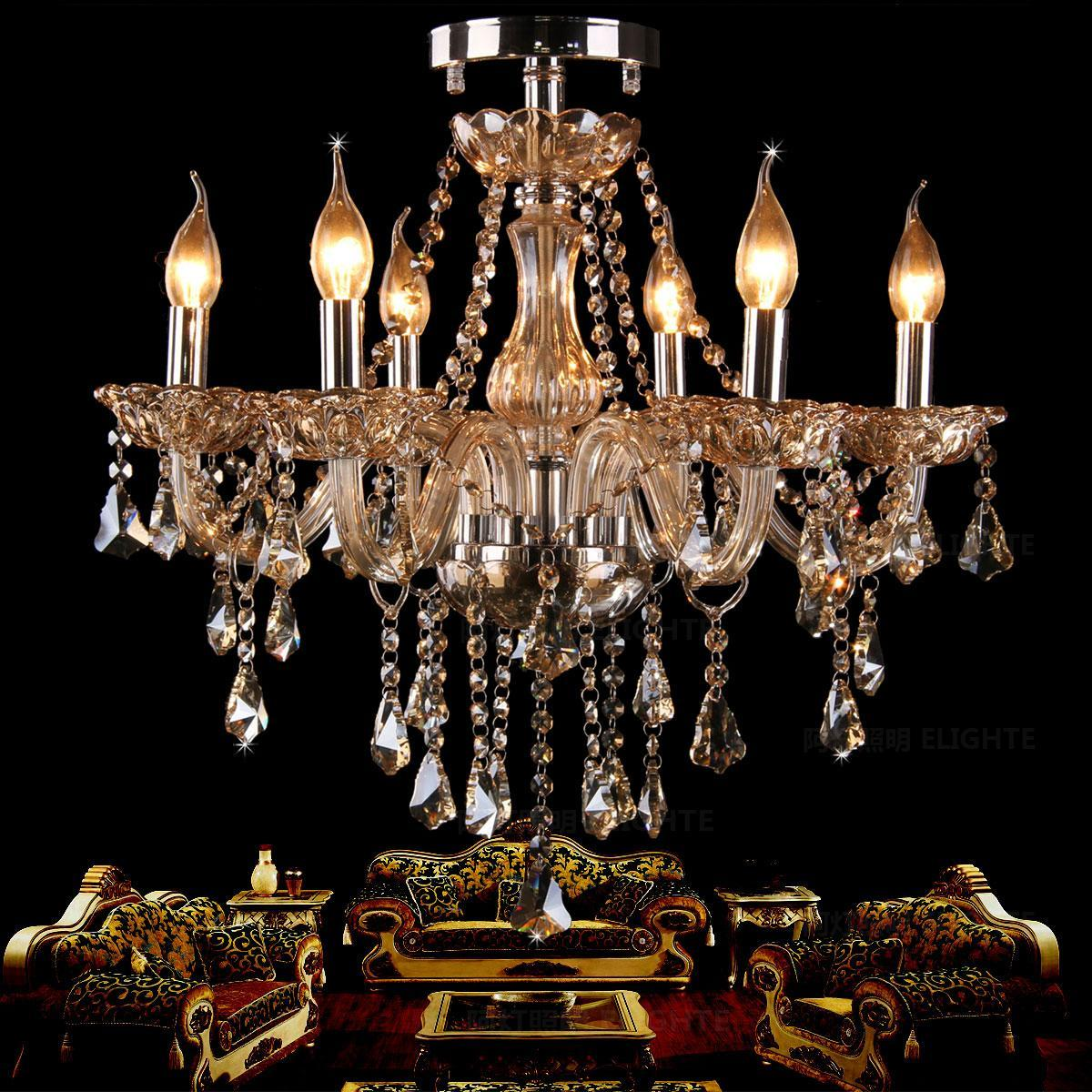 Fashion ceiling chandelier light living room lamps bedroom lamp candle crystal lighting ceiling Chandelier Lights