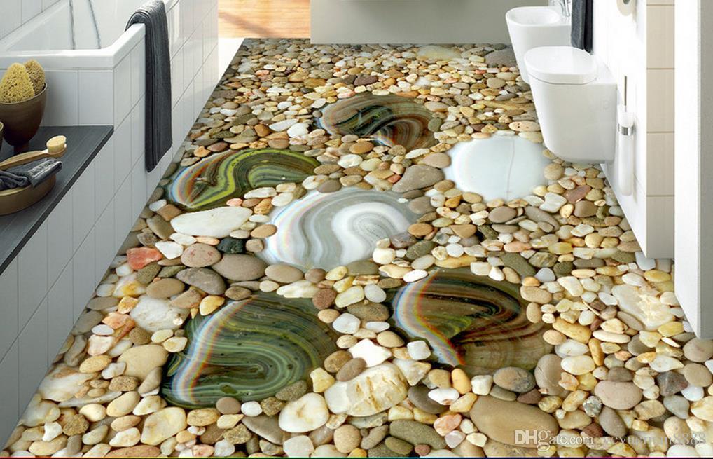 3d flooring Custom wallpaper scenery for walls cobblestone 3d floor wallpapers for bed room 3d floor painting