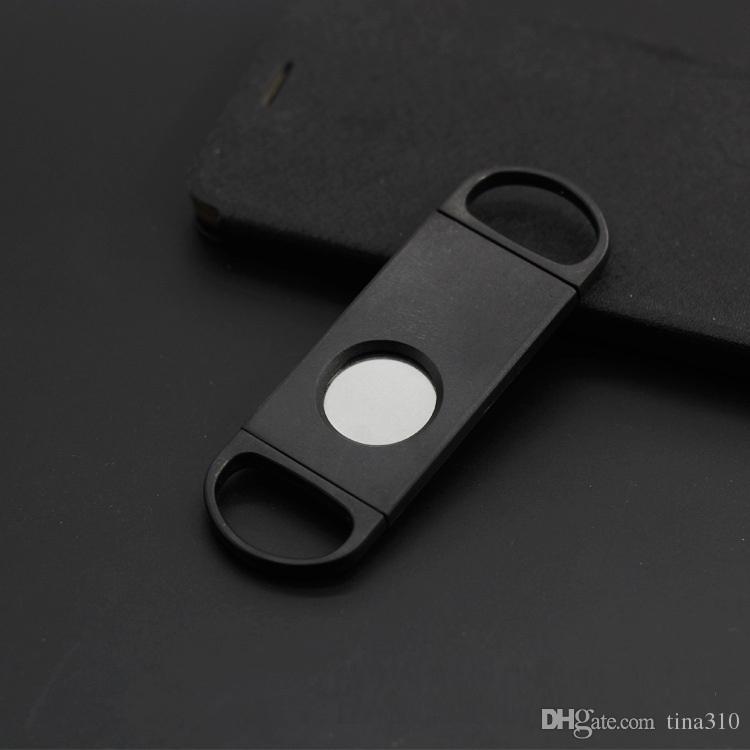 New Fashion Pocket Plastic Stainless Steel smoking Accessories Blades Cigar cutter Knife Scissors Cigar Accessories IB005