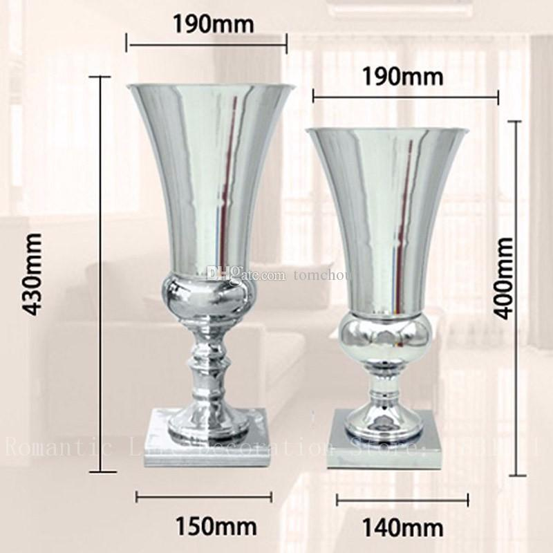 Silver Metal Wedding Flower Vase Table Centerpiece For Mariage Metal