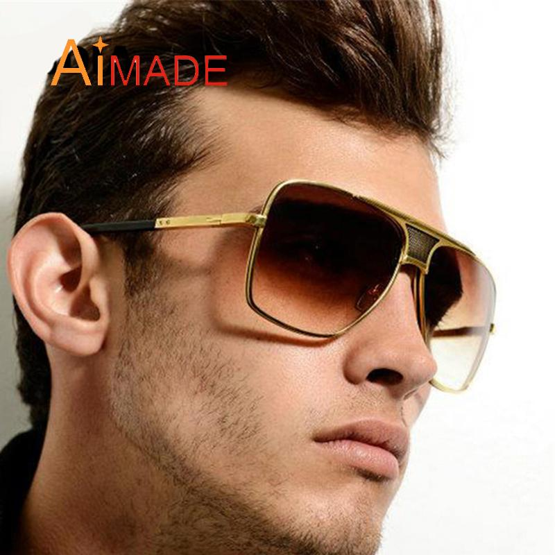 7c552780cf7 Wholesale- Aimade Vintage Oversize Square Sunglasses Men Fashion ...