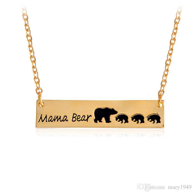 Mamma Orsa Collana in oro ciondoli argento Colori pendente della lega di 18 pollici con i monili Chain di modo delle collane animali