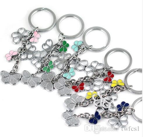 Pretty Color Butterfly Keychain Cute Key Ring For Women High Quality Key  Chain Key Holder Creative Portachiavi Chaveiro Llaveros Mujer Bottle Opener  ... c65e9fc1074e