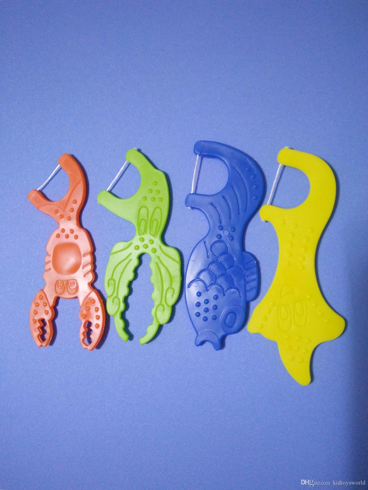 Kid 20 pièces par boîte Médicaments de soie dentaire cure-dents Dents cirées Soins bucco-dentaires Cure-fil dentaire triple nettoyant Dents cirées Ligne polymère