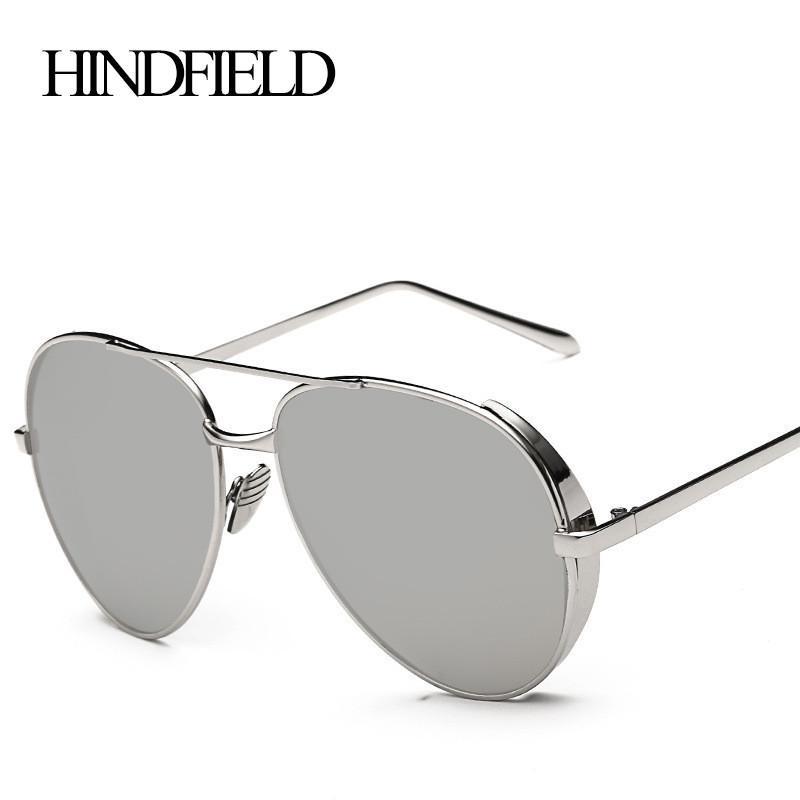 c668ed7a8d63 Cheap Wholesale- HINDFIELD Retro Round Metal Frame Sunglasses Steam Punk  Women Vintage Brand Designer Sun Glasses For Female Gafas De Sol Mujer