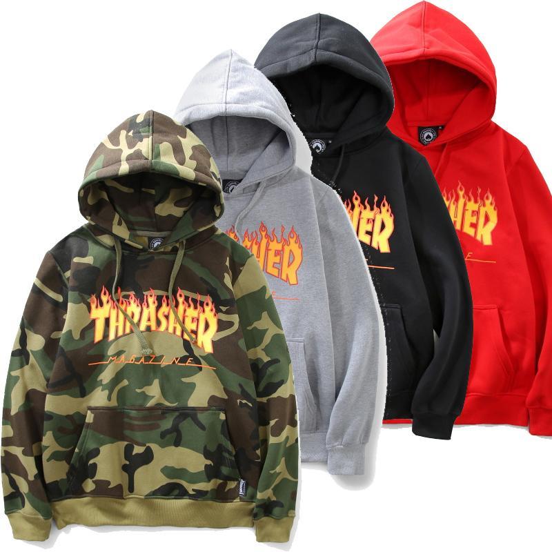 Wholesale-Sweatshirt Trasher Mens Hip Hop Hoodies Thrasher Hoodie ... acd68ac9b