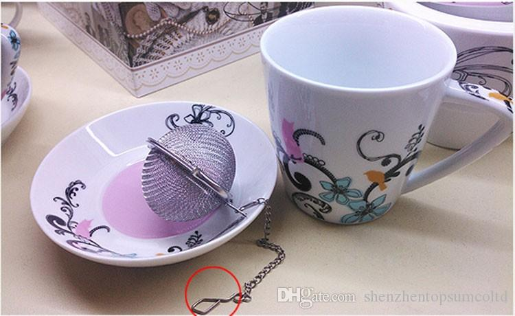 Bästa pris / Rostfritt stål Tea Pot Infuser Sphere Mesh Ball 5cm