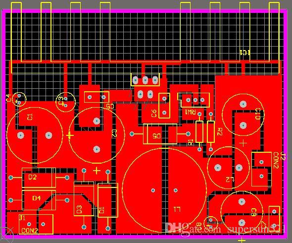 Lm2576 Module Switching Power Supply Schematic And Pcb