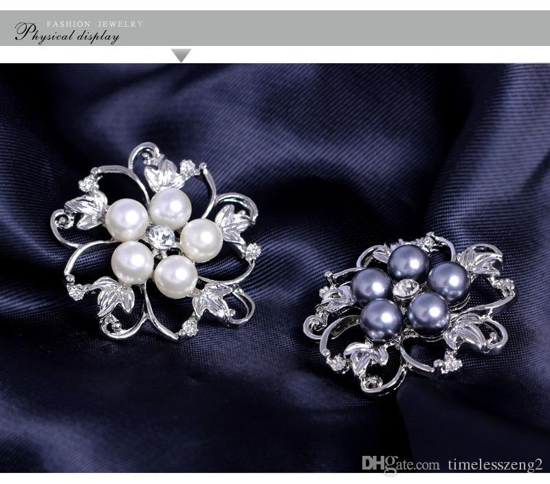Popolare lega diamante perle spille Folwer partito a forma di partito popolare europea e americana belle decorazioni del partito Vendita calda