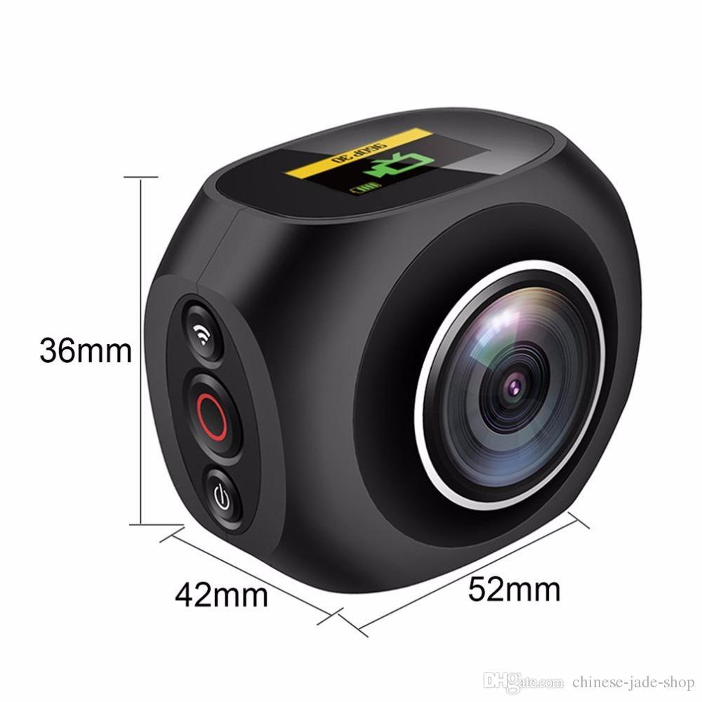 4K HD 360 Panoramic Camera VR Mini Handheld Unique Dual Lens Sport Camera WiFi Video Action Sports Camera PANO360 + remote control