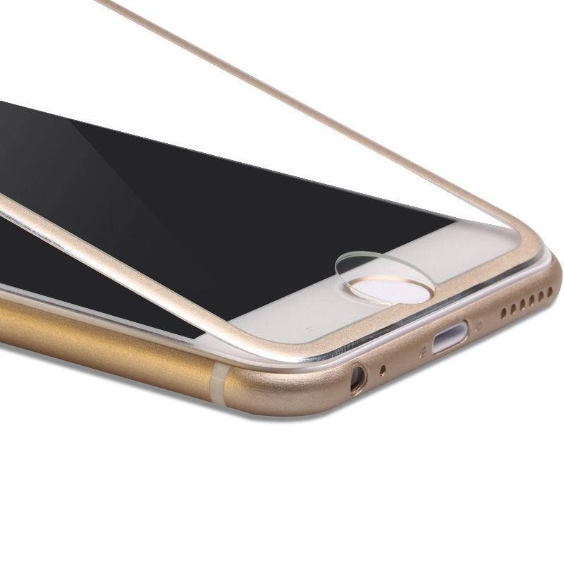 Protector de pantalla de cristal templado de aleación de titanio Protector de pantalla de curvatura ultra delgado 3D para iPhone 8 / 8plus / 7/7 / + 6/6 + / 5 / 5s