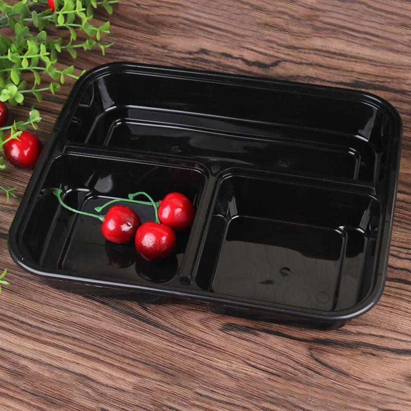 3 fack Mikrovågsugn Matlagring Engångsmåltid Prep Containrar + Lock Bento Box Lunchboxbricka med omslagsmål Prep Portion Control