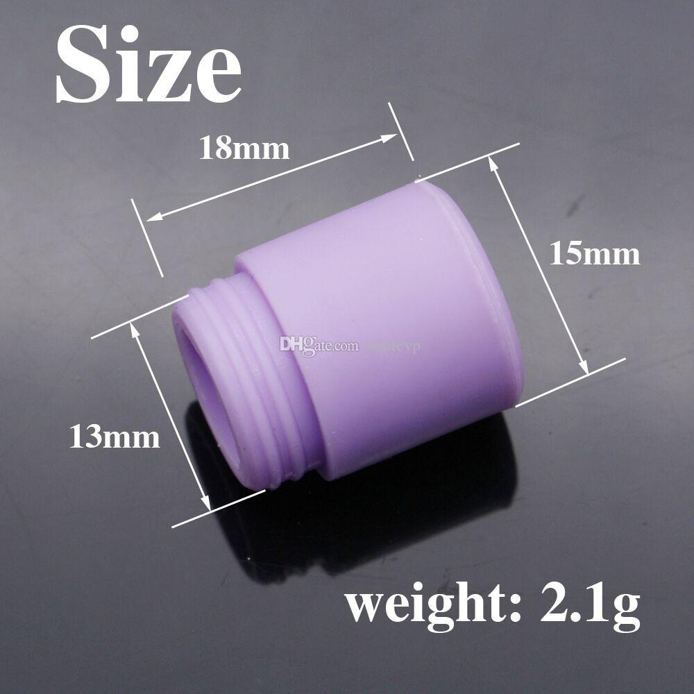 TFV8 Silicone Mouthpiece TFV8 silicone drip tip TFV12 Silicone Drip Tip Disposable Colorful Rubber Test Dip Tips Fit TFV8 Big Baby TFV12 DHL