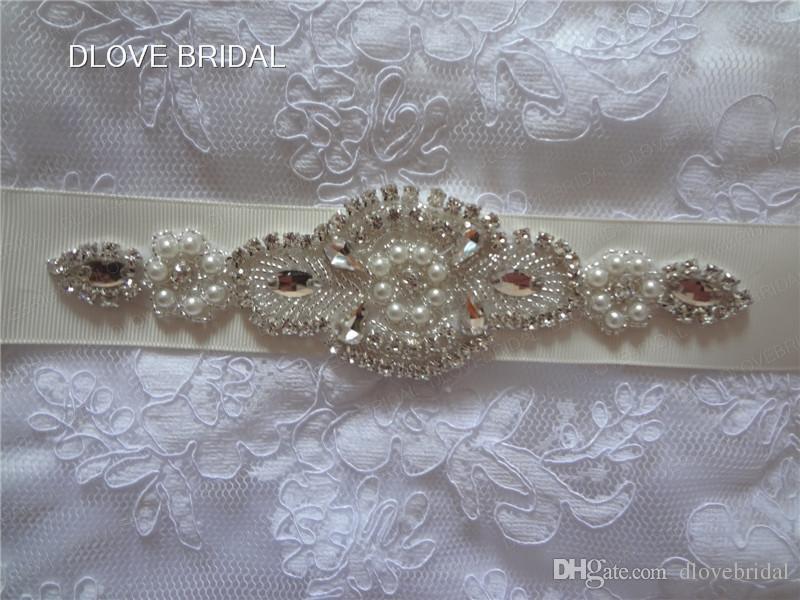 Foto reale a buon mercato a buon mercato ma perla di alta qualità cristalli di cristalli della cintura di nozze della cinghia di nozze shinny accessorio da sposa nuziale nuziale fianchi serali cravatta