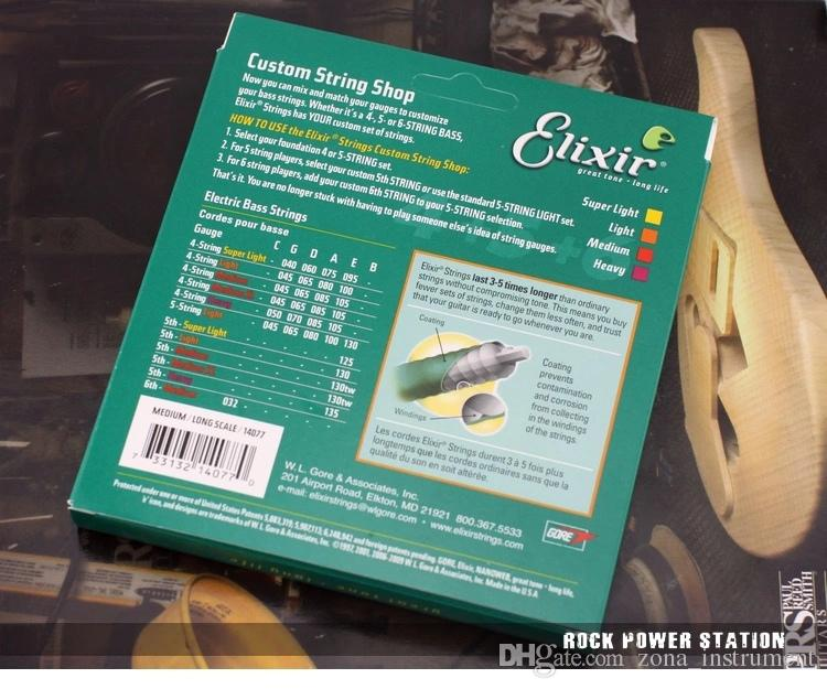 Elixir 14077 .045 -. 105 세트 3 나일론 극 현미경 현악기 엘릭서 현악기 일렉트릭베이스 현악 송료 무료