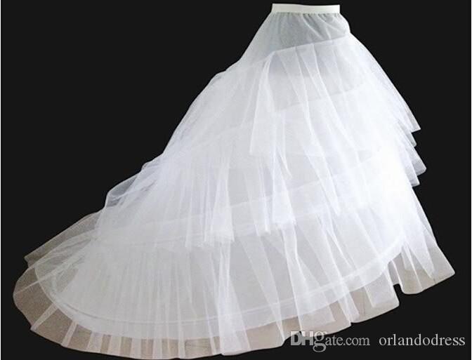 حرية الملاحة تنورات مع قطار 2017 أحدث رائع أثواب الزفاف ثوب الزفاف الكرينولين underscirt 3- طبقات اكسسوارات الزفاف