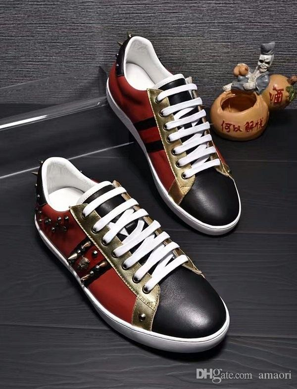 NEW SPORT FASHION LUXURY DESIGN CASUAL SHOES MEN BRAND DESIGNER Genuine Leather SNEAKERS MENS RACE RUNNERS