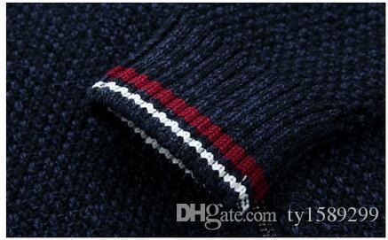 Blusas dos homens Grosso Quente de Inverno Com Zíper Pulôver de Cashmere Blusas De Lã Homem Malhas Casuais Roupas de Veludo de Lã Tamanho Grande