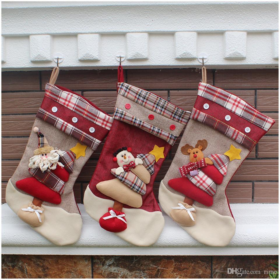 Super Cute Long Christmas Gift Socks Fashion Winter Santa Claus ...