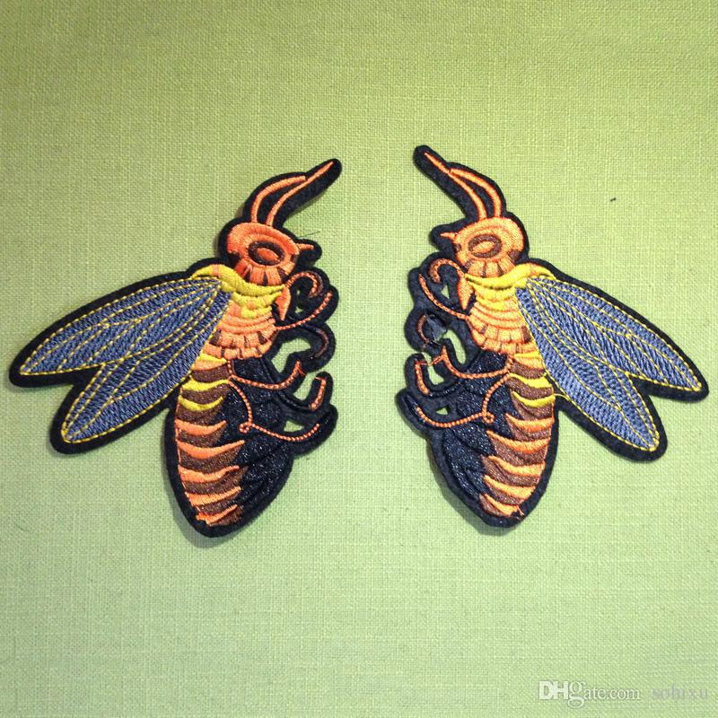 2019 Iron On Patch For Clothing Bees Sticker Embroidered Jacket