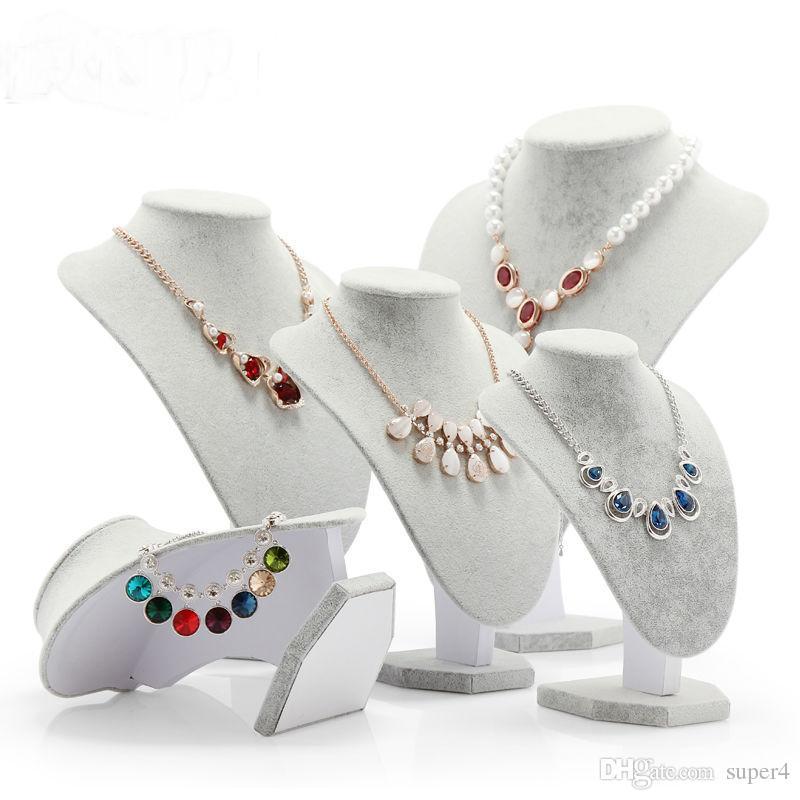 Bijoux Velvet Afficher Mannequin Afficher Modèle buste Porte-pendentif en rack Collier Support pour Décorations Organisateur pour bijoux