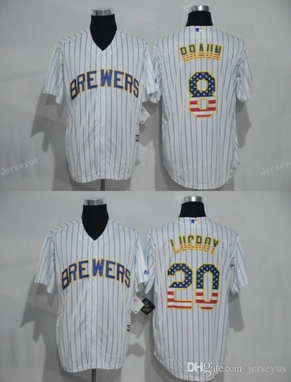 85f1a0f5fbf ... majestic mlb authentic f2b5a e3e7c  coupon code for 2017 milwaukee  brewers 8 ryan braun 20 jonathan lucroy baseball jersey white stripes
