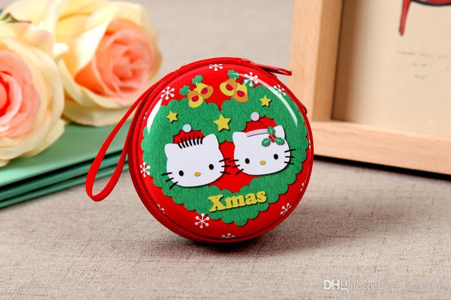Mini Christmas Cute Geldbörse Cute Snow schöne Halter Münze Brieftasche Lagerung Geschirr Besteck Abdeckungen Geschenk Tasche Großhandel