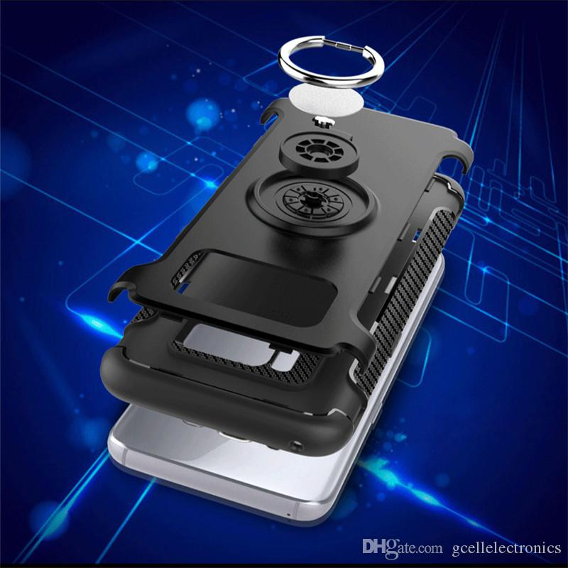 360 Ring Holder Armor Phone Cases For Iphone 12 Pro Max 11 Samsung Galaxy S21 Plus Note 20 Ultra Covers With Magnetic Function