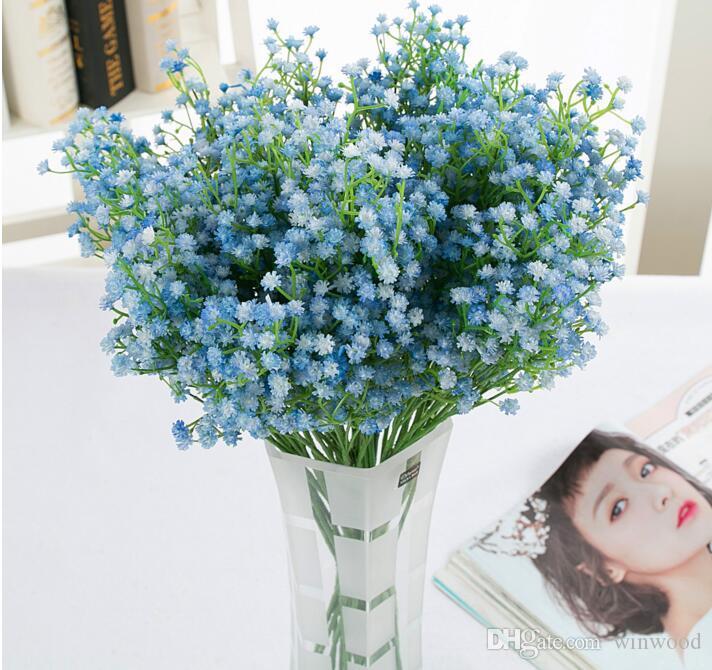 تصميم جديد محاكاة زهور اصطناعية PU Gypsophila زهور الزفاف Babysbreath عيد الميلاد حزب الجدول الديكور باقة الاصطناعي