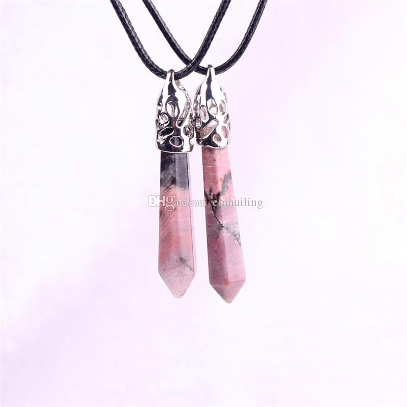 Natural Luscious Pink & Coral Colours Rhodonite Love Pendant Necklace Fertility Gemstone Nursing Necklace Baby Shower Gift for a New Mom