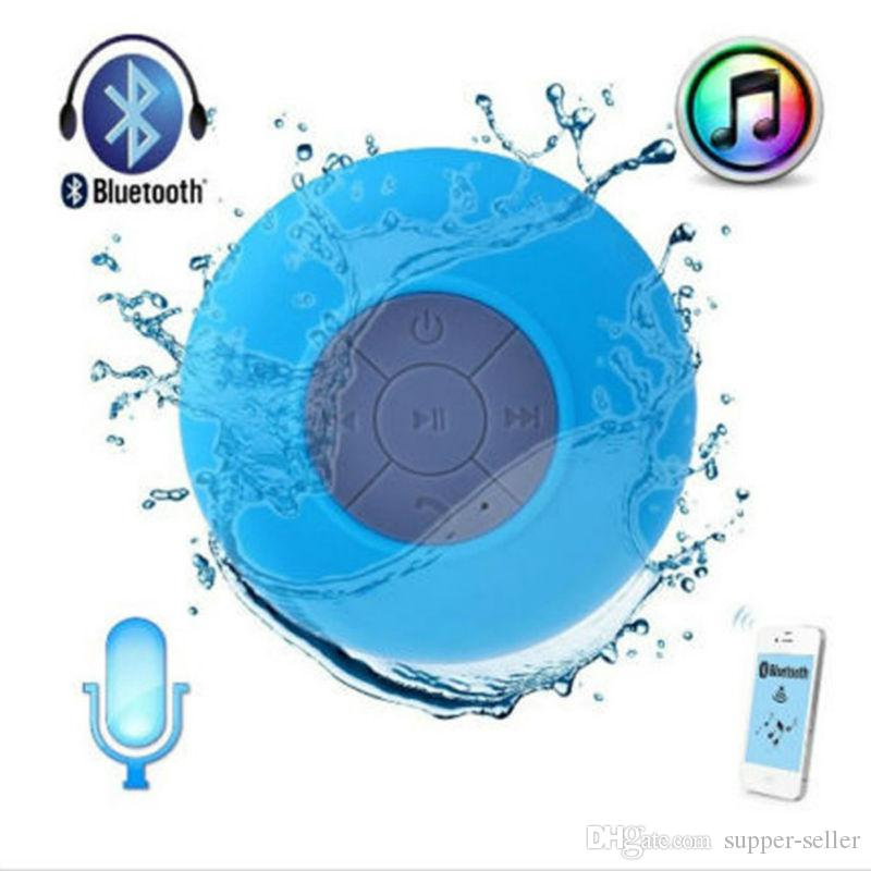 Mini Portable Bluetooth Subwoofer Speaker Suction Cups Waterproof Handsfree Stereo Music Colorful Speakers For Shower Bathroom Free DHL