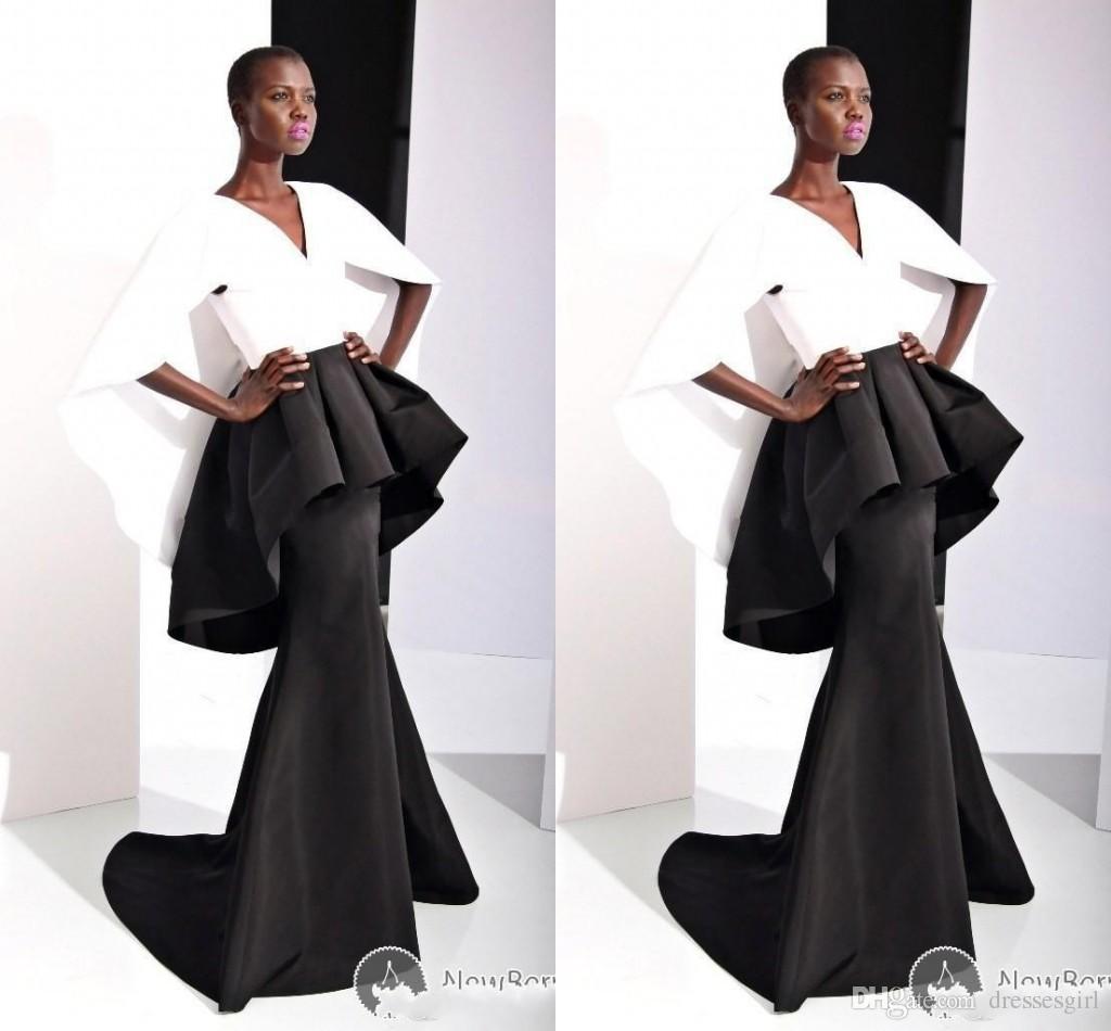 Fashion Runny Way Women Formal Evening Dresses Mermaid Satin Cap ...