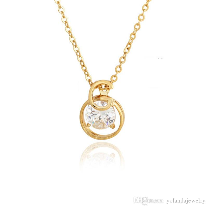 Wholesale new simple fashion 18k yellow goldwhite gold plated aaa wholesale new simple fashion 18k yellow goldwhite gold plated aaa cz letter g pendant necklace for girls women nice gift nl 337 heart shaped pendant aloadofball Gallery