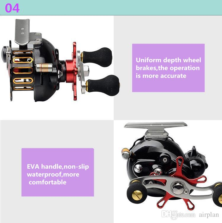 Ultra-Smooth Pesca Fishing Reel Right and Left Inner Brake Knob System Bait casting 4+1BB Fish Line Lure Fishing Wheel