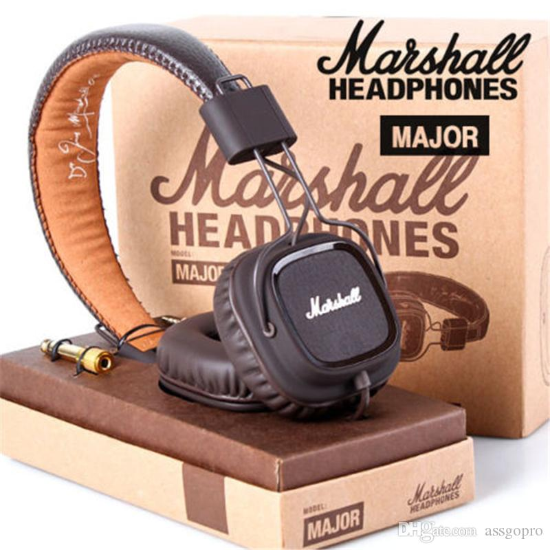 Marshall Major Headphones With Mic Deep Bass DJ Hi-Fi Headphone HiFi Headset Professional DJ Monitor Headphone With Retail Package