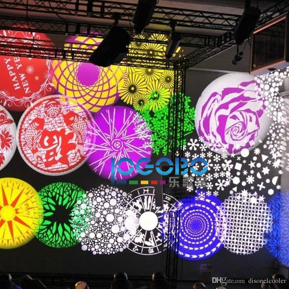 30W exterior conduziu logotipos da empresa do projeto do efeito da iluminação do Gobo, nomes de um par do casamento, projetos modelados para criar as folhas decorativas, estrelas