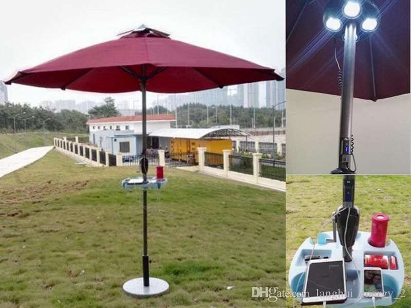 2018 Solar Sun Umbrella With Solar Panels Charger For Iphone Ipad Etc. Bar Umbrella  Patio And Beach Umbrella Lh Su102 From Langhui_energy_2, ...